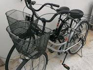 自転車2代完備!ご自由にご利用ください♪